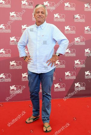 French Director Thierry Ragobert Poses at a Photocall For 'Amazonia' During the 70th Annual Venice International Film Festival in Venice Italy 07 September 2013 the 3d Documentary Film Presented out of Competition Will Close the Festival Later the Same Day Italy Venice