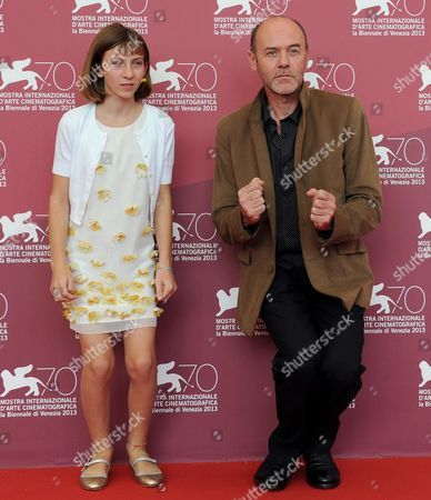 French Actors Lou-lelia Demerliac (l) and Jacques Bonnaffe (r) Pose at a Photocall For 'Je M'appelle Hmmm ' (my Name is Hmmm ) During the 70th Annual Venice International Film Festival in Venice Italy 01 September 2013 the Movie is Presented in the Orizzonti Section of the Festival That Runs From 28 August to 07 September Italy Venice