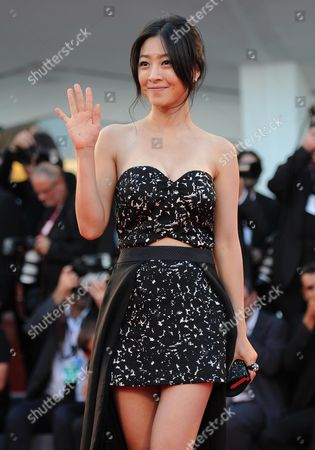 South Korean Actress/cast Member Lee Eun-woo Arrives on the Red Carpet to Promote the Movie 'Moebius' at the 70th Annual Venice International Film Festival in Venice Italy 03 September 2013 the Festival Runs From 28 August to 07 September Italy Venice