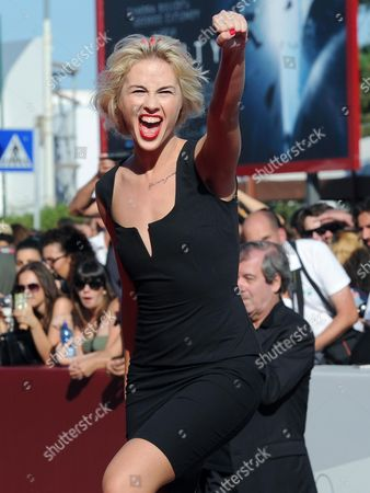 Activist of the Feminist Protest Group Femen Sasha Shevchenko Arrives For the Screening of 'Ukraina Ne Bordel' (ukraine is not a Brothel) at the 70th Annual Venice International Film Festival in Venice Italy 05 September 2013 the Movie is Presented out of Competition As Special Screening the Festival Runs From 28 August to 07 September Italy Venice