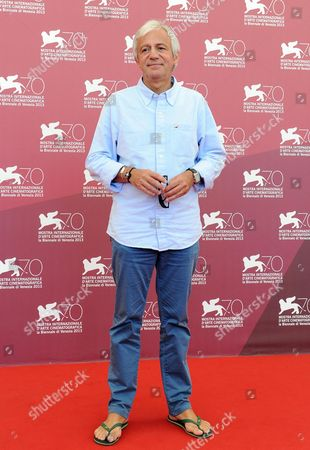 Stock Image of French Director Thierry Ragobert Poses at a Photocall For 'Amazonia' During the 70th Annual Venice International Film Festival in Venice Italy 07 September 2013 the 3d Documentary Film Presented out of Competition Will Close the Festival Later the Same Day Italy Venice
