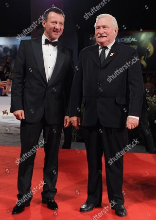 Polish Actor/cast Member Robert Wieckiewicz (l) and Former Polish President Lech Walesa Arrive For the Screening of 'Walesa Czlowiek Z Nadziei' (walesa Man of Hope) at the 70th Annual Venice International Film Festival in Venice Italy 05 September 2013 the Movie is Presented out of Competition the Festival Runs From 28 August to 07 September Italy Venice