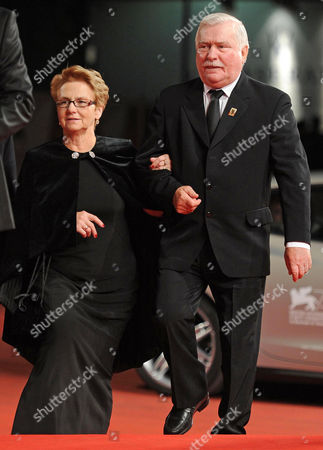 Former Polish President Lech Walesa (r) and His Wife Danuta Golos (l) Arrive For the Screening of 'Walesa Czlowiek Z Nadziei' (walesa Man of Hope) at the 70th Annual Venice International Film Festival in Venice Italy 05 September 2013 the Movie is Presented out of Competition the Festival Runs From 28 August to 07 September Italy Venice