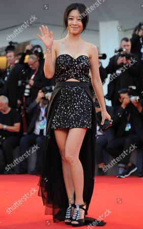 Stock Photo of South Korean Actress/cast Member Lee Eun-woo Arrives on the Red Carpet to Promote the Movie 'Moebius' at the 70th Annual Venice International Film Festival in Venice Italy 03 September 2013 the Festival Runs From 28 August to 07 September Italy Venice