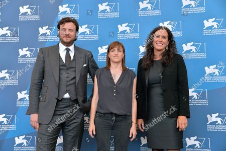 (l-r) Us Producer John Jencks Us Director Ami Canaan Mann and Us Producer Molly Hassell Pose at a Photocall For 'Jackie and Ryan' During the 71st Annual Venice International Film Festival in Venice Italy 31 August 2014 the Movie is Presented in the Orizzonti Section of the Festival Running From 27 August to 06 September Italy Venice
