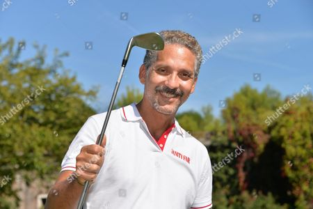 Italian Actor Beppe Fiorello Poses For Pictures While Playing Golf at Lido Golf Club During the 71st Annual Venice International Film Festival in Venice Italy 29 August 2014 the Festival Runs From 27 August to 06 September Italy Venezia