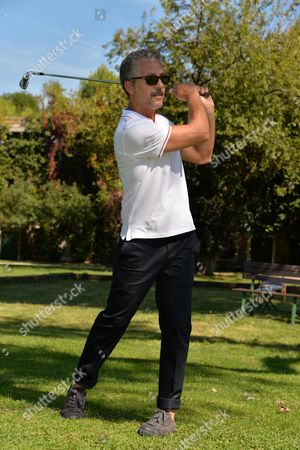 Italian Actor Beppe Fiorello Plays Golf at Lido Golf Club During the 71st Annual Venice International Film Festival in Venice Italy 29 August 2014 the Festival Runs From 27 August to 06 September Italy Venezia
