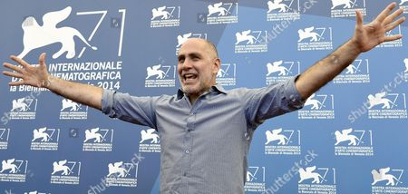 Mexican Director Guillermo Arriaga Poses at a Photocall For 'Words with Gods' During the 71st Annual Venice International Film Festival in Venice Italy 30 August 2014 the Movie is Presented out of Competition at the Festival Running From 27 August to 06 September Italy Venice