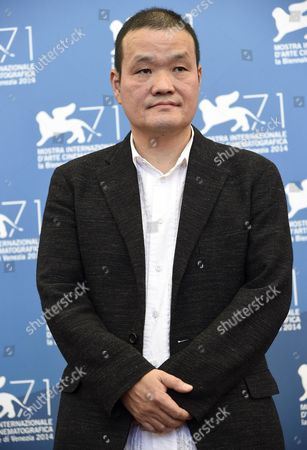 Stock Picture of Japanese Director Hideo Nakata Poses at a Photocall For 'Words with Gods' During the 71st Annual Venice International Film Festival in Venice Italy 30 August 2014 the Movie is Presented out of Competition at the Festival Running From 27 August to 06 September Italy Venice
