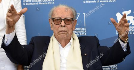 Stock Photo of Italian Cinema Critic Gianluigi Rondi Poses During a Photocall For the Documental 'Gianluigi Rondi: Vita Cinema Passione' During the 71st Annual Venice International Film Festival in Venice Italy 31 August 2014 the Movie is Presented in the Venice Classic Section at the Festival Running From 27 August to 06 September Italy Venice