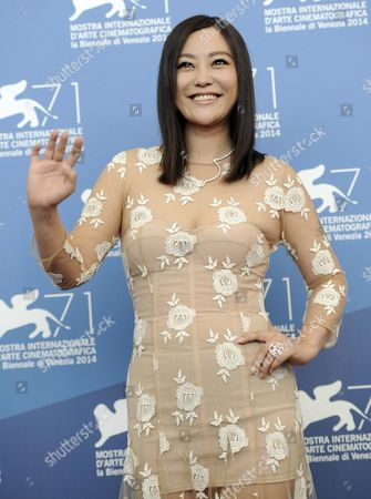 Chinese Actress/member Cast Hao Lei Poses During a Photocall For the Movie 'Dearest' (qin'ai De) During the 71st Annual Venice Film Festival at the Lido in Venice Italy 28 August 2014 the Movie is Presented in the out of Competition Selection at the Festival Running From 27 August to 06 September Italy Venice