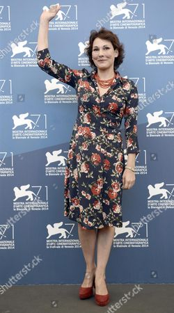 Italian Actress Anna Ferruzzo Poses at a Photocall For 'Anime Nere' During the 71st Annual Venice International Film Festival in Venice Italy 29 August 2014 the Movie is Presented in the Official Competion Venezia 71 of the Festival Running From 27 August to 06 September Italy Venice