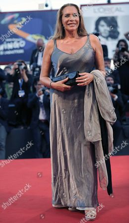 Stock Photo of Italian Actress Barbara De Rossi Arrives on the Red Carpet For the Premiere of '99 Homes' During the 71st Annual Venice International Film Festival in Venice Italy 29 August 2014 the Movie is Presented in the Official Competition Venezia 71 at the Festival That Runs From 27 August to 06 September Italy Venice