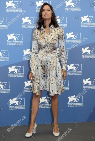 Indian-us Writer and Jury Member Jhumpa Lahiri Poses at a Photocall For the 'Venezia 71 Jury' During the 71st Annual Venice International Film Festival in Venice Italy 27 August 2014 the Festival Runs From 27 August to 06 September Italy Venice