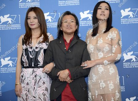 (l-r) Chinese Actresses/cast Members Zhao Wei Director Peter Ho-sun Chan and Hao Lei Pose During a Photocall For the Movie 'Dearest' (qin'ai De) During the 71st Annual Venice Film Festival at the Lido in Venice Italy 28 August 2014 the Movie is Presented in the out of Competition Selection at the Festival Running From 27 August to 06 September Italy Venice