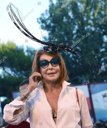 Italian Actress Marina Ripa Di Meana Arrives For the Premiere of Movie 'La Rancon De La Gloire' During the 71st Annual Venice International Film Festival in Venice Italy 28 August 2014 the Movie is Presented in the Official Competition Venezia 71 at the Festival That Runs From 27 August to 06 September Italy Venice