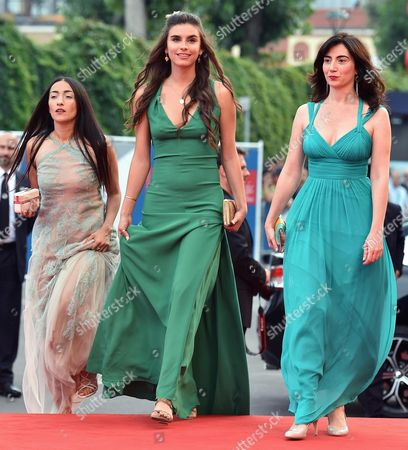 (l-r) Actresses Hindi Zahra Lara Heller and Arevik Martirosyan Arrive For the Premiere of 'The Cut' During the 71st Annual Venice International Film Festival in Venice Italy 31 August 2014 the Movie is Presented in the Official Competition Venezia 71 at the Festival That Runs From 27 August to 06 September Italy Venice