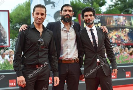 From (l-r) Actors George Georgiou Numan Acar and Akin Gazi Arrive For the Premiere of 'The Cut' During the 71st Annual Venice International Film Festival in Venice Italy 31 August 2014 the Movie is Presented in the Official Competition Venezia 71 at the Festival That Runs From 27 August to 06 September Italy Venice