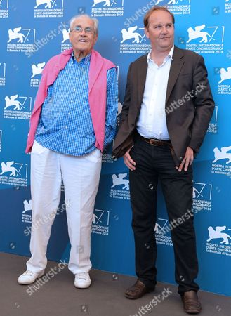 French Director Xavier Beauvois (r) and French Composer Michel Legrand Pose at a Photocall For 'La Rancon De La Gloire' During the 71st Annual Venice International Film Festival in Venice Italy 28 August 2014 the Movie is Presented in the Official Competition Venezia 71 at the Festival That Runs From 27 August to 06 September Italy Venice