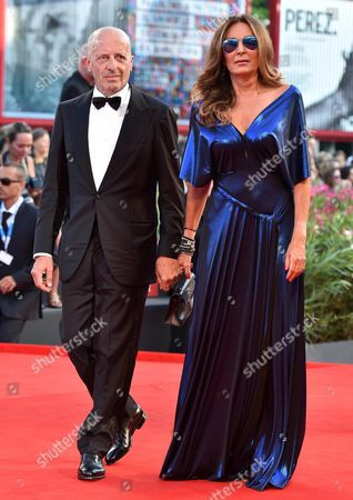 Italian Journalist Alessandro Sallusti and His Partner Italian Entrepreneur Daniela Santanche Arrive For the Opening Ceremony and Screening of 'Birdman Or (the Unexpected Virtue of Ignorance)' at the 71st Annual Venice International Film Festival in Venice Italy 27 August 2014 Presented in the Official Competition Venezia 71 the Movie Opens the Festival That Runs From 27 August to 06 September Italy Venice