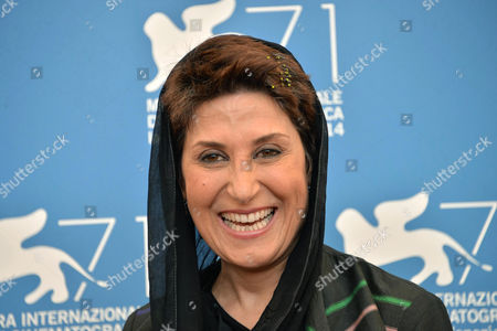 Stock Image of Iranian Actress Fatemeh Motamed Arya Poses During a Photocall For the Movie 'Nabat' During the 71st Annual Venice International Film Festival in Venice Italy 05 September 2014 the Movie is Presented at Orizzonti Section at the Festival That Runs From 27 August to 06 September 2014 Italy Venice