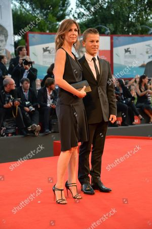 French Director Alix Delaporte (l) and French Actor Paul Romain Arrive on the Red Carpet For the Closing Ceremony of the 71st Annual Venice International Film Festival in Venice Italy 06 September 2014 the Festival Runs From 27 August to 06 September Italy Venice