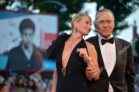Russian Director Andrej Koncalovskij (r) and His Wife Julia Vysotskaya Arrive For the the Awarding Ceremony of the 71st Annual Venice International Film Festival in Venice Italy 06 September 2014 the Festival Runs From 27 August to 06 September Italy Venice