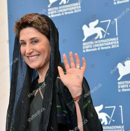 Stock Picture of Iranian Actress Fatemeh Motamed Arya Poses During a Photocall For the Movie 'Nabat' During the 71st Annual Venice International Film Festival in Venice Italy 05 September 2014 the Movie is Presented at Orizzonti Section at the Festival That Runs From 27 August to 06 September 2014 Italy Venice