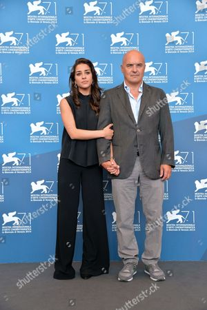 Italian Actors Simona Tabasco (l) and Luca Zingaretti (r) Pose at a Photocall For 'Perez' During the 71st Annual Venice International Film Festival in Venice Italy 05 September 2014 the Movie is Presented out of Competition at the Festival Running From 27 August to 06 September Italy Venice