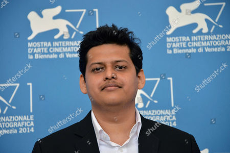 Indian Director Chaitanya Tamhane Poses at Photocall For 'Court' During the 71st Annual Venice International Film Festival in Venice Italy 04 September 2014 the Movie is Presented in the Orizzonti Section at the Festival That Runs From 27 August to 06 September 2014 Italy Venice