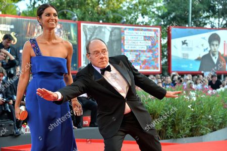 Indian Actress Jhumpa Lahiri (l) and Italian Director Carlo Verdone Arrive For the Awarding Ceremony of the 71st Annual Venice International Film Festival in Venice Italy 06 September 2014 the Festival Runs From 27 August to 06 September Italy Venice
