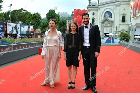 From (l-r): Ukrainian Actress Sara Adler Actress Meshi Olinski and Actor Adam Tsekhman Pose on the Red Carpet For the Premiere of the Movie 'Tsili' During the 71st Annual Venice International Film Festival in Venice Italy 31 August 2014 the Movie is Presented out Competition at Venezia 71 Festival That Runs From 27 August to 06 September 2014 Italy Venice