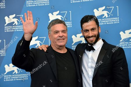 Israelian Director Amos Gitai and Actor Adam Tsekhman (r) Pose During a Photocall For the Movie 'Tsili' During the 71st Annual Venice International Film Festival at the Lido in Venice Italy 01 September 2014 the Movie is Presented in the Venezia 71 Section at the Festival Running From 27 August to 06 September Italy Venice
