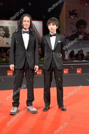 Stock Photo of Japanese Actor Tatsuya Nakamura (l) and Yusako Mori (r) Arrive For the Premiere of 'Nobi' (fires on the Plain) During the 71st Annual Venice International Film Festival in Venice Italy 02 September 2014 the Movie is Presented in the Official Competition Venezia 71 of the Festival Running From 27 August to 06 September Italy Venice