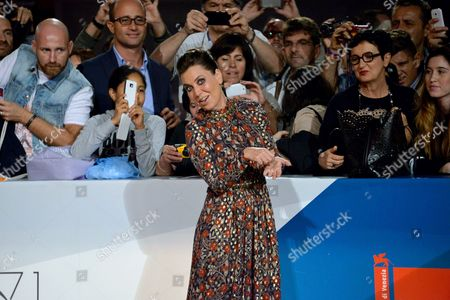 Italian Actress/writer/director Sabina Guzzanti Arrives For the Premiere of 'La Trattativa' During the 71st Annual Venice International Film Festival in Venice Italy 03 September 2014 the Movie is Presented out of Competition at the Festival Running From 27 August to 06 September Italy Venice