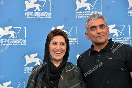 Stock Photo of Iranian Actress Fatemeh Motamed Arya (l) and Director Elchin Musaoglu of Azerbaijan Pose During a Photocall For the Movie 'Nabat' During the 71st Annual Venice International Film Festival in Venice Italy 05 September 2014 the Movie is Presented at Orizzonti Section at the Festival That Runs From 27 August to 06 September 2014 Italy Venice