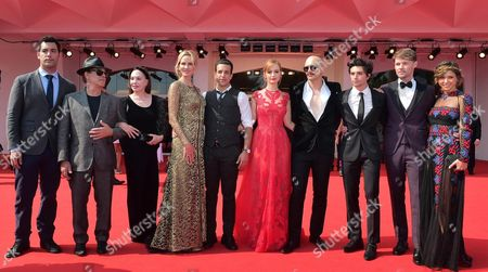 Us Actor-director James Franco (4-r) Arrives with Cast Members (4l-r) Janet Jones Gretzky Guest Ahna O'reilly Jacob Loeb Scott Haze and Elissa Shay For the Premiere of 'The Sound and the Fury' During the 71st Annual Venice International Film Festival in Venice Italy 05 September 2014 the Movie is Presented out of Competition at the Festival Running From 27 August to 06 September Italy Venice