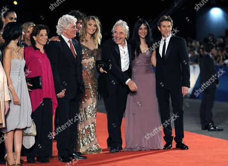 From (l-r) Portuguese Actress Maria De Medeiros Patrizia and Husband Italian Actor Ninetto Davoli Italian Actor Riccardo Scamarcio Cristina Chiriac and Husband Us Director Abel Ferrara Italian Giada Colagrande and Husband Us Actor Willem Dafoe Arrive on the Red Carpet For the Premiere of 'Pasolini' During the 71st Annual Venice International Film Festival in Venice Italy 04 September 2014 the Movie is Presented in Official Competition Selection Venezia 71 at the Festival Running From 27 August to 06 September Italy Venice