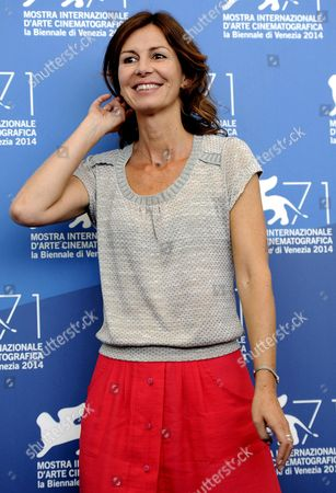 French Director Alix Delaporte Poses During a Photocall For the Movie 'Le Dernier Coup De Marteau' During the 71st Annual Venice International Film Festival at the Lido in Venice Italy 03 September 2014 the Movie is Presented in the Venezia 71 Section at the Festival Running From 27 August to 06 September Italy Venice