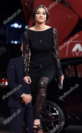 Italian Actress/cast Member Simona Tabasco Arrives For the Premiere of 'Perez' During the 71st Annual Venice International Film Festival in Venice Italy 05 September 2014 the Movie is Presented out of Competition at the Festival Running From 27 August to 06 September Italy Venice