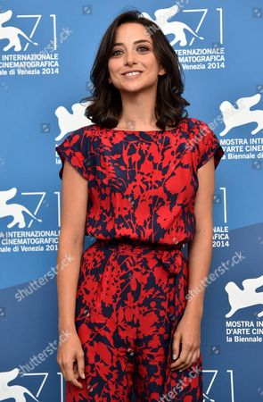 Stock Photo of Italian Actress Federica De Cola Poses During a Photocall For the Movie 'Il Giovane Favoloso' During the 71th Annual Venice International Film Festival at the Lido in Venice Italy 01 September 2014 the Movie is Presented in the Venezia 71 Section at the Festival Running From 27 August to 06 September Italy Venice