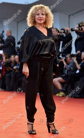 Italian Actress Iaia Forte Arrives on the Red Carpet For the Premiere 'Il Giovane Favoloso' During the 71st Annual Venice International Film Festival at the Lido in Venice Italy 01 September 2014 the Movie is Presented in the Official Competition Venezia 71 at the Festival Running From 27 August to 06 September Italy Venice