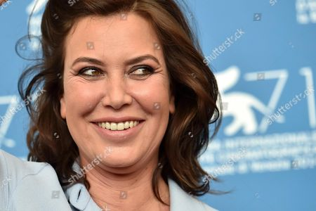 Stock Picture of Italian Actress/cast Member/director Sabina Guzzanti Poses During a Photocall For the Movie 'La Trattativa' During the 71st Annual Venice International Film Festival at the Lido in Venice Italy 03 September 2014 the Movie is Presented out of Competition at the Festival Running From 27 August to 06 September Italy Venice