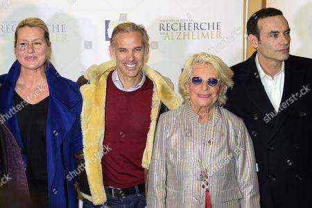 Luana and Paul Belmondo, Veronique de Villele, Anthony Delon