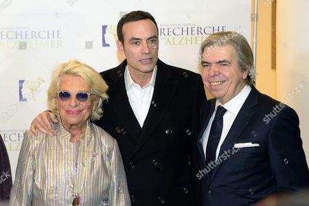 Veronique de Villele, Anthony Delon and Bruno Dubois
