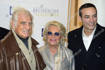 Jean-Paul Belmondo, Veronique de Villee and Anthony Delon
