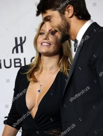 Barbara Berlusconi (l) with Her Boyfriend Lorenzo Guerrieri Attends the Amfar's Milan Fashion Week Gala the Foundation Fifth Annual Benefit Held in Conjunction with Milan Fashion Week at La Permanente Milan Italy 21 September 2013 Italy Milan