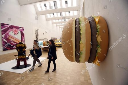 The Sculpture 'Big Big Mac' by Us Artist Tom Friedman is on Display During the Opening of the Arts and Food Exhibition at the Triennale in Milan Italy 08 April 2015 the Exhibition is Part of the Expo 2015 with the Theme 'Feeding the Planet Energy For Life' the Pavillion Will Open Its Doors on 09 April and Run Through 01 November Italy Milan