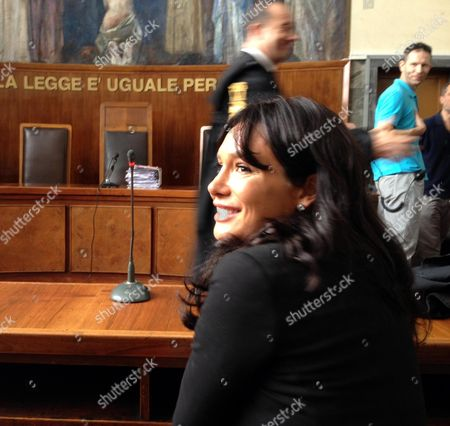Nicole Minetti Silvio Berlusconi's Former Dental Hygienist and Ex-lombardy Councillor Sits on a Bench in a Milan Court 7 June 2013 Prior to Giving Evidence at the Trial of Three People - of Whom She is One - Accused of Pimping For Ex-premier Silvio Berlusconi During Evidence She Denied Supplying Girls For the Former Premier's Alleged Sex Parties Italy Milan