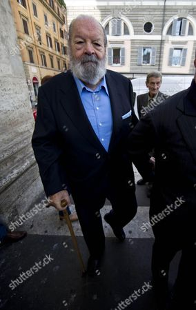 Italian Actor Bud Spencer Attends the Funeral Ceremony of Italian Actor Giuliano Gemma in Rome Italy 07 October 2013 Gemma Died in a Car Accident Near Rome on 01 October 2013 Italy Rome